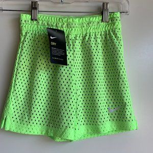NWT NIKE Dri-Fit Neon Girls Mesh Training Shorts
